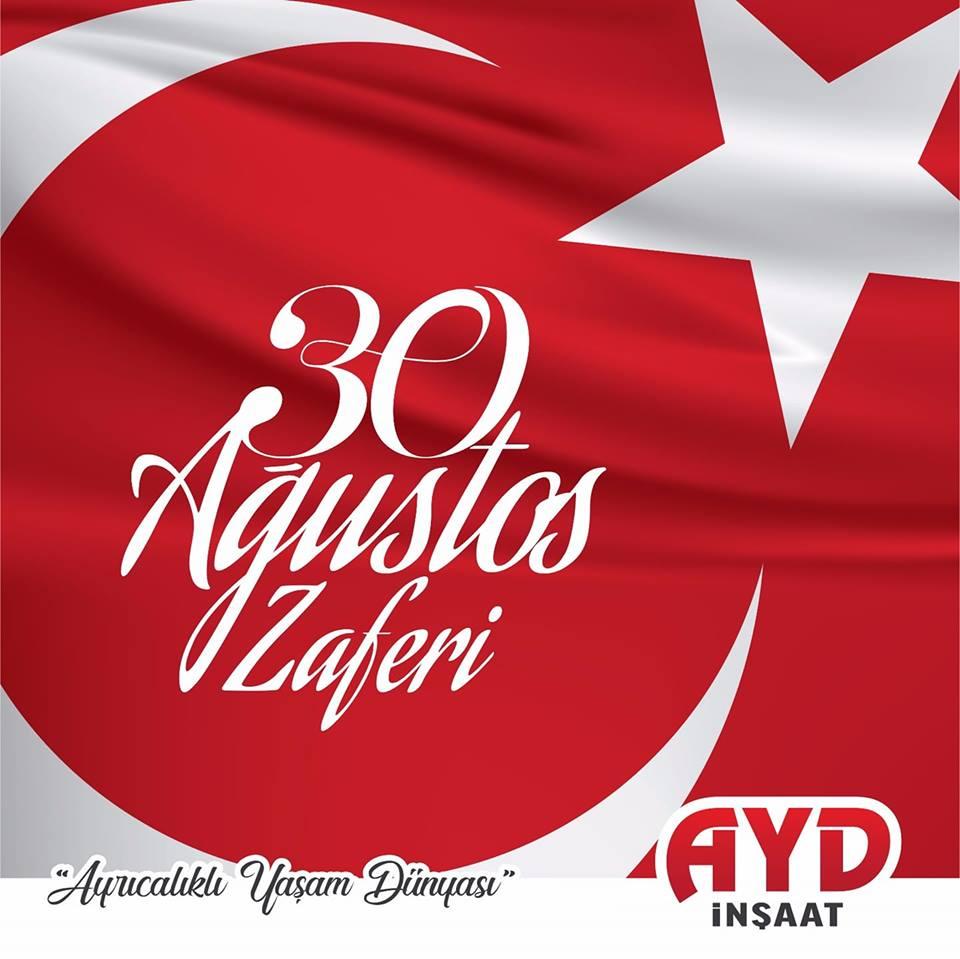 30 Ağustos Zafer Bayramı'nı kutluyoruz.